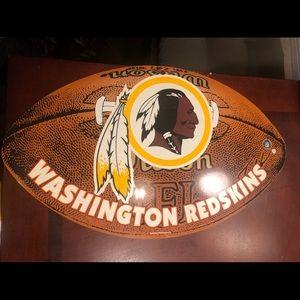 Washington Redskins Football Shaped wall deco